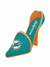 Miami Dolphins Decorative Shoe Wine Bottle Holder [NEW] NFL Glass CDG