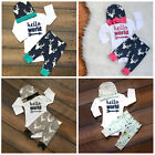 Boy Girl Tops Deer Pants Leggings Hat 3PCS Baby Coming Home Outfits Set Clothes