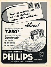 PUBLICITE ADVERTISING 084  1958   PHILIPS  rasoir éléctrique