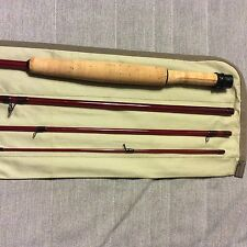 "Sunset Red 6'7"" 3wt 4pc Fiberglass Fly Rod"