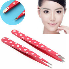 2Pcs New Eyebrow Tweezers Hair Slanted Puller Stainless Tip Steel Tweezer Tools