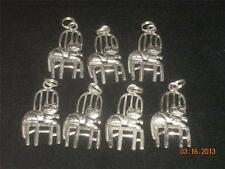 Wholesale Lot # 410 Pewter Cat on Chair Charm Pendant Earring Key Chain Crafts
