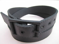 Mens Womens Leather Stitched Reversible Cotton Web Canvas Golf Dress Belt 1 1/2""