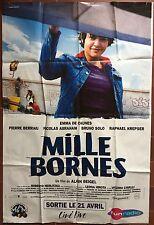 Affiche MILLE BORNES Alain Beigel EMMA DE CAUNES Pierre Berriau 120x160cm *D