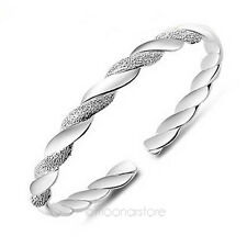 Bijoux de Mode Plaquées Argent Bracelet Love Torsion Twist Cuff Bangle 2014 Sell