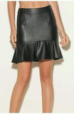 Guess  Faux Leather Skirt Jet Black Size 6