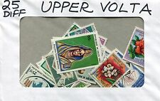 Upper Volta Collection Packet of 25 Different Stamps