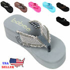 NEW Women's Fashion Wedge Platform Thong Flip Flops Slip On Sandals Shoes