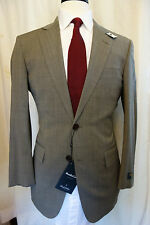 NWT Brooks Brothers BrooksCool Madison Brown Tan Suit 36S   Retail $698