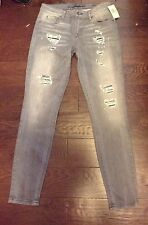 Guess ? Jeans Grey Distressed Denim Women's Size 28