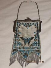 1920's MANDALIAN MFG CO RARE MESH PURSE FLAPPER BAG ENAMEL METAL ART DECO
