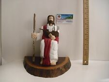 Jesus Christ & boat Religious carved wood Statue