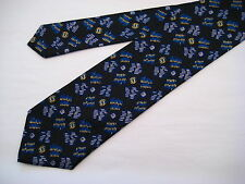 Santostefano Italy 100% Silk Neck Tie from Syd Jerome - Black/Teal/Lt. Blue/Gold