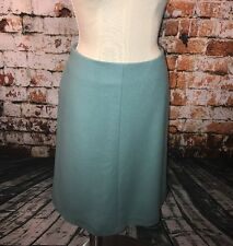 BODEN Tufts Blue A-Line Wool Blend Skirt Size US 8L 8