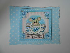 PACK 2 TEACUP MOUSE EMBELLISHMENTS TOPPERS FOR CARDS AND CRAFTS-FRIEND