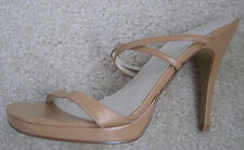 "GUESS by Marciano Tan Camel Strappy Shoes Dress Sandals 4"" Heels Size 6 M"