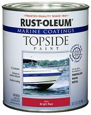 Rust-Oleum 207004 Marine Topside Paint, Bright Red, 1-Quart by Rust-Oleum OOO