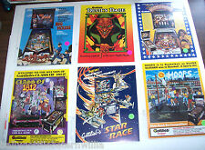 Lot Of (6) ORIGINAL PINBALL MACHINE Flyers HOOPS HOT SHOTS DEVILS DARE set #11