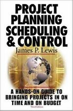Project Planning,  Scheduling & Control, 3rd Edition Lewis, James P. Hardcover
