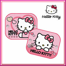 2 x HELLO KITTY Window Car Sun Shades UV Protection Blinds Children Kids Baby