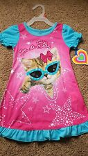 NWT Girl's Nightgown 2T Pajamas Sleepwear Cat Kitten I'm a Star