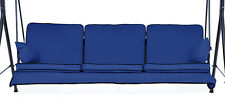 Replacement Blue 3 Seater Swing Seat Hammock Cushions Set Pads Garden Chair