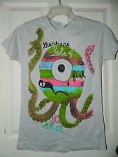 NWT girls juniors TOO MANY FISH IN THE SEA Octopus Tee Shirt TOP* M Medium $22