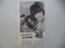 advertising Pubblicità 1966 LAVASTOVIGLIE CANDY