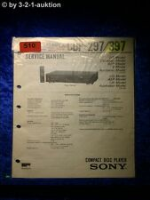 Sony Service Manual CDP 297 / 397 CD Player (#0510)