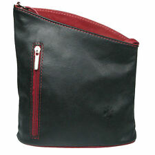 Soft Italian Leather Cross Body Messenger Ladies leather bag Made In Italy SB002
