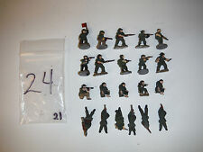 WAR GAMES MILITARY SOLDIERS PEWTER 15 mm 1/100 (21 PIECES)