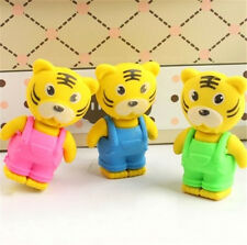 New listing Fd3711 Cartoon Tigers Eraser Rubber Pencil Stationery Cute Children Gift 1pc ☆