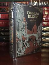 Charles Dickens Sealed Leather Bound Oliver Twist Two Cities Great Expectations