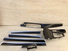 BMW F10 74K 550I INTERIOR DASH DOOR CENTER CONSOLE WOOD TRIM MOLDING SET OEM