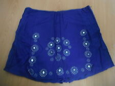 ladies  shorts /skirt attached 30 inch waist blue