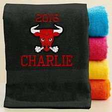Personalized Bath/Beach Towel with FREE Custom Embroidery - Mascot Theme Towel
