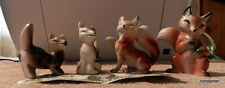 VINTAGE RELCO ? Enseco CERAMIC FOX FIGURAL SALT & PEPPER SHAKERS  --JAPAN
