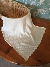 Heavenly soft Cashmere blend baby shawl/blanket.  col. Natural White