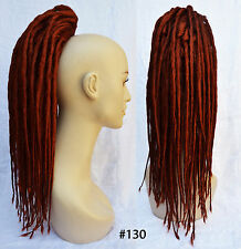 *1-Tone* Clip-on Synthetic Ponytail Hair Falls Dreadlocks Dreads Gothic Cosplay
