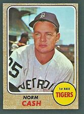 Norm Cash Detroit Tigers 1968 Topps Card #256
