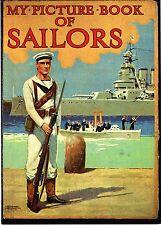 Militaria - Photo- Fusilier marin britannique, Bâtiment de guerre, équipage 1920