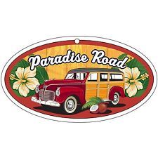 Surf City Garage Paradise Road Air Freshener-Woody-lino con fragancia fresca, 3 Pack