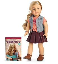 "**NEW**American Girl 'TENNEY' 18"" Doll and Book NIB"