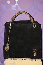 Louis Vuitton Whisper GM Khol Embossed Monogram Suede Snakeskin Limited Hiver 08
