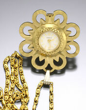 Lady's Pendant Watch By Caravelle With Chain Circa 1970s