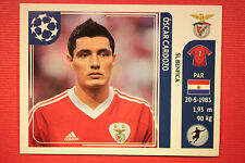 PANINI CHAMPIONS LEAGUE 2011/12 N 174 CARDOZO BENFICA WITH BLACK BACK MINT!