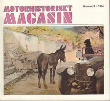 Motorhistoriskt Magasin Swedish Car Magazine #3 1984 Ford '66 031617nonDBE