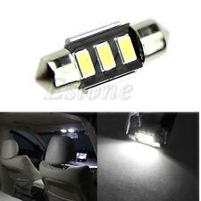 White 12V 5630 SMD 3 LED 31mm Car Interior Festoon Dome Light Roof Lamp Bulb