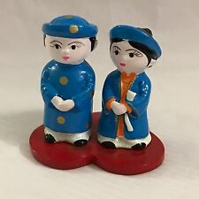 Vietnam Vietnamese Traditional Costume Wedding Ao Dai Bride Groom Cake Topper