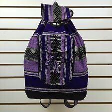 Authentic RASTA Bag Beach Hippie Baja Ethnic Backpack Made in Mexico M05